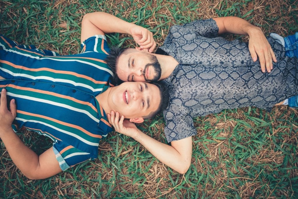Two men in a relationship. One is taking PrEP because his partner is HIV positive.